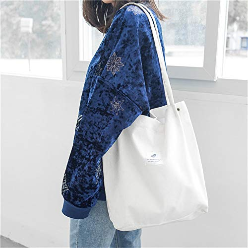paresseuse style sac Harajuku coréenne sac étudiante LANDONA minimaliste sac capacité Blanc à de en toile haute qRdwWYxz