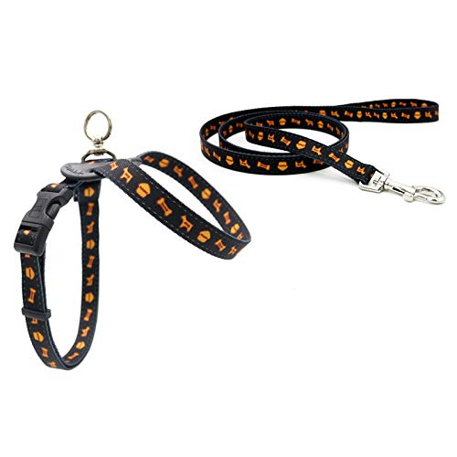 Black 4570120cm black 4570120cm YSDTLX Dog Chest Strap With 8 Word Traction Rope Pet Supplies Soft Dog Chain, Black, 4570  120Cm