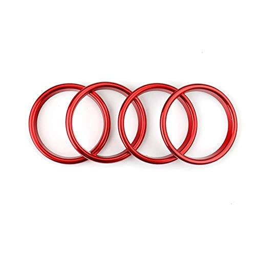 - MCWAUTO Air Condition Air Vent Outlet Ring Cover Trim Decoration Sticker for Audi A3 S3 2013-2016/Q2 2017 Accessories,car-Styling 4pcs (Red)