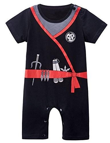 Mombebe Baby Boys' Ninja Costume Romper (18-24 Months, (Ninja Costume Ideas Halloween)