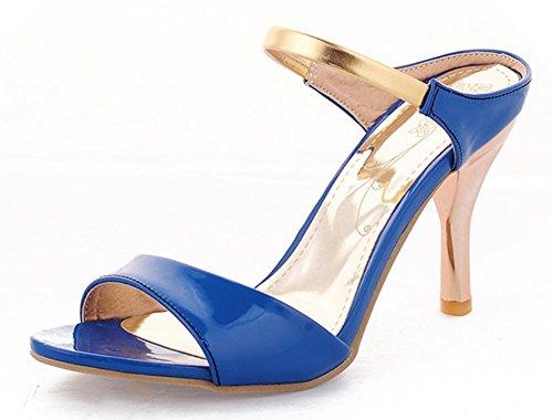 Sandalo Open Toe Sandalo Con Tacco A Spillo In Pelle Con Cinturino Alla Caviglia