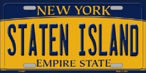 Vanity Islander - Staten Island New York Background Novelty Metal Novelty License Plate