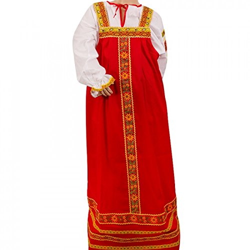 Russian Costume For Girls (Girls Russian Folk Traditional Sundress and Blouse Set