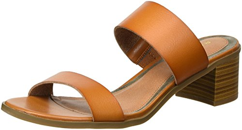 Rampage Women's Ram-Hatty Heeled Sandal, Cognac Burnish, 6 M US ()