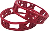 Cultural Exchange Kappa Alpha Psi 3D Cut Out Silicone Bracelet [Pack of 2 - Red]
