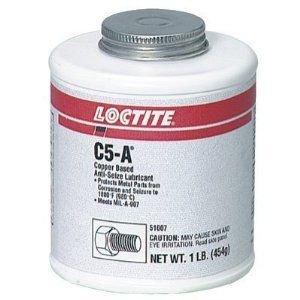 Loctite 51009 Copper LB 8008 C5-A Anti-Seize Lubricant, -20 Degree F Lower Temperature Rating to 1800 Degree F Upper Temperature Rating, 8 lb. Can by Loctite