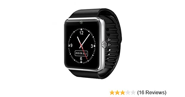 Amazon.com: GT08 Bluetooth GT08 Smart Wrist Watch Phone Camera Support Sim Card Smart Health Watch for Android Samsung HTC iOS Apple iPhone Smartphone ...