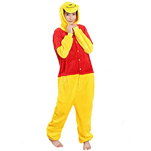 Pooh Winnie Adults Costumes And For Piglet The (TouteSporting Winnie the Pooh Onesie Couple Pajamas)