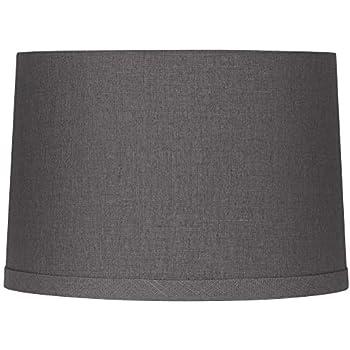 Gray Linen Drum Lamp Shade 15x16x11 Spider Springcrest