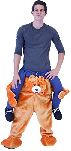 Two Person Halloween Costume Ideas (Costume Agent Men's Piggyback Bear Ride-On Costume, Bear, Adult)