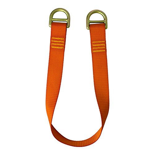 Fusion Climb 2ft 24''x1.75'' Fall Safety Zipline Lanyard with Steel D Ring 23kN Orange by Fusion Climb