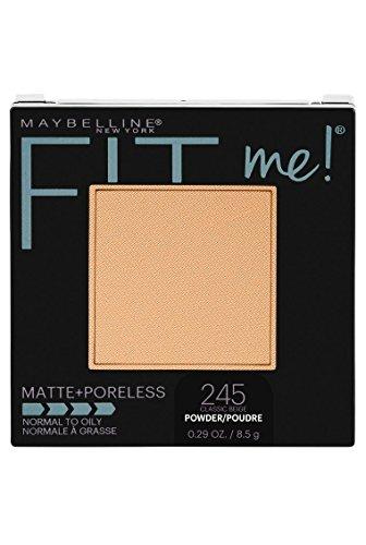 Maybelline New York Fit Me Matte + Poreless Powder Makeup, Classic Beige, 0.29 oz.