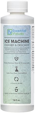 Essential Values Ice Machine Cleaner 16 fl oz, Nickel Safe Descaler | Ice Maker Cleaner Compatible with: Whirl
