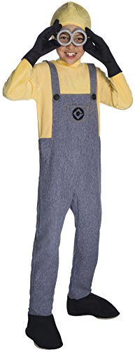 Rubie's Costume Boys Despicable Me 3 Deluxe Minion Dave Costume, Medium, Multicolor ()