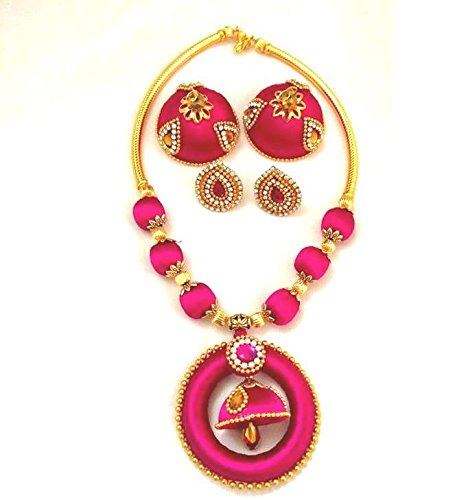 b07a10b88d Buy Town Of Trinkets Silk Thread Jewelry set ( Colour can be Customize on  Order) Online at Low Prices in India | Amazon Jewellery Store - Amazon.in