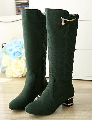 5 A Vestido La us5 5 Uk8 Uk3 Black Negro Tacón Casual Vellón Zapatos Punta Mujer 5 De Eu42 Moda Eu36 Cn35 5 Xzz Cn43 Robusto Botas Redonda Black us10 qPw8Snzxn