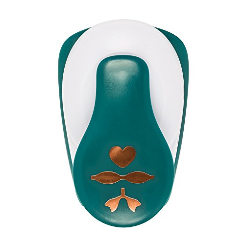 Fiskars 127250-1001 Lia Griffith Lever Punch, Heart and Bow, Teal Green/White