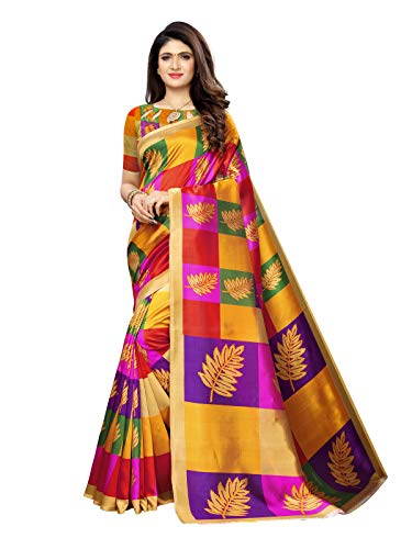 SIRIL Women's Poly Silk Saree With Blouse Piece