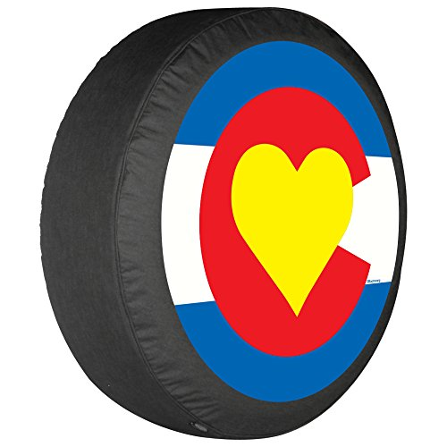 "28"" Colorado Heart Flag - Spare Tire Cover - Made in the USA free shipping"