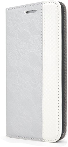 PLATA for iPhone 7 / iPhone 8 Case Lace design Leather stand wallet case pouch notebook type [ silver - Celeb Trend