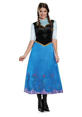 Disguise Women's Anna Traveling Deluxe Adult Costume, Multi, Large - Anna Costume Adults