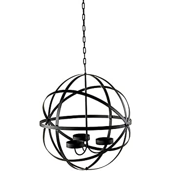 Amazon outdoor spherical chandelier candle holder black steel outdoor spherical chandelier candle holder black steel provides lighting and soft glow to outside space perfect aloadofball Image collections