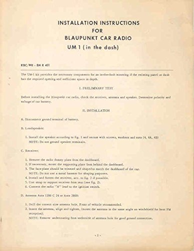 Review 1960 ? Blaupunkt Frankfurt