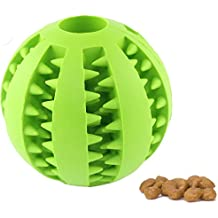 CAVN Soft Rubber Toy IQ Treat Ball for Dogs and Cats (Dental Treat and Bite Resistant) Durable Non-Toxic Strong Tooth Cleaning Dog Feed Ball for Pet IQ Training/ Chewing/Playing, Dog Chew Toys