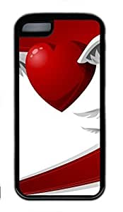 Black Case,Fashion Cool Art Flying Hearts Protective Soft TPU Back Case Cover for iphone 5C (Black) Kimberly Kurzendoerfer