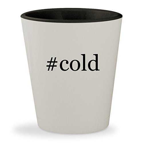 #cold - Hashtag White Outer & Black Inner Ceramic 1.5oz Shot Glass (Stone Cold Steve Mask Austin)
