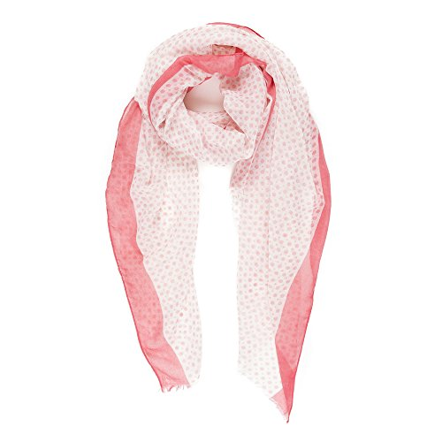 Scarves for Women Fashion Lightweight Fall Winter Geometric Pattern Wrap Shawls (Polka Dot-Pink)