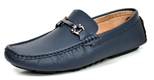 Bruno MARC MODA ITALY BM-PEPE-5 Men's Classic Fashion On The Go Driving Casual Loafers Boat Shoes NAVY SIZE 9.5 (Men Casual Loafers)