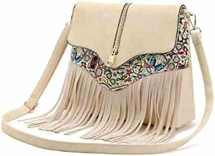 CreazyBee Elegant Women Medium and Long Style Fashion Zipper Tassel Coin Purse Card Holder Bag Purple