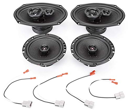 2007-2011 Toyota Yaris with Power Package Complete Premium Factory Replacement Speaker Package by Skar ()