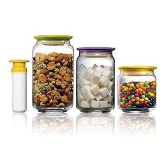Barattolo in vetro, contenitori con pompa, Air & Liquid chiusura ...