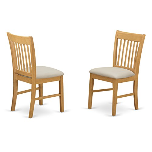 Norfolk kitchen dining chair with Cushion Seat -Oak Finish.