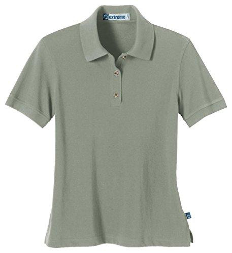 Ash City Ladies' Short Sleeve Pique Polo Shirt w/ Teflon, S, Slate