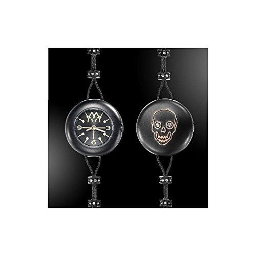 Reloj marco mavilla Pepito Reversible Skull Negro psk01bk: Amazon.es: Relojes