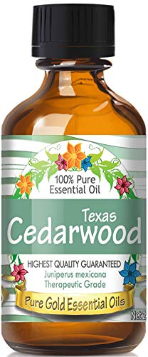 Pure Gold Texas Cedarwood Essential Oil, 100% Natural & Undiluted, 60ml by Pure Gold