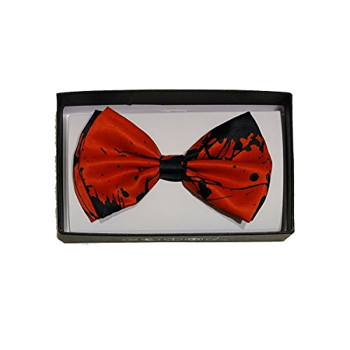 Pre-Tied Adjustable BOWTIE Selections for Men Women juniors to All Occasions Events Costumes (Blood Splatter Red) ()