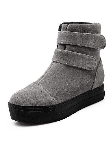 us10 Eu36 Beige Mujer Uk8 Zapatos Xzz Cn35 5 Eu42 us5 Punta Vellón Beige Negro Botas 5 Vestido Gray Cn43 Gris Plataforma 5 Uk3 De Moda Redonda A La Casual 5 wFwgA