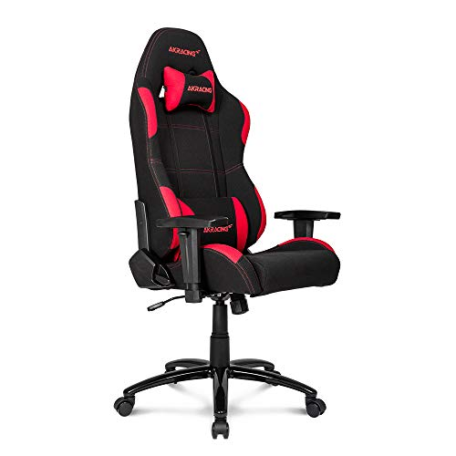 AKRacing Core Series EX Gaming Chair with High Backrest, Recliner, Swivel, Tilt, Rocker & Seat Height Adjustment Mechanisms, 5/10 Warranty - Black/Red AKRacing