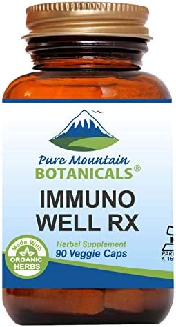 Immuno Well RX – 90 Kosher Caps Now with Organic Astragalus Echinacea Garlic Maitake Shiitake Mushroom Honeysuckle Beta Glucan