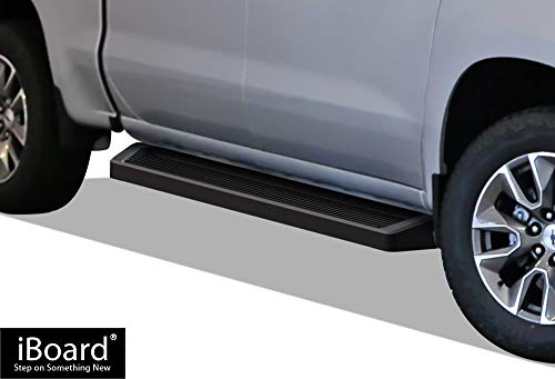 APS iBoard Black Running Boards Style Custom Fit 2019-2020 Chevy Silverado GMC Sierra 1500 Crew Cab (Nerf Bars | Side Steps | Side Bars)