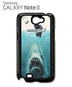 Jaws Parody Super Hero Mobile Cell Phone Case Samsung Note 2 Black by mcsharks