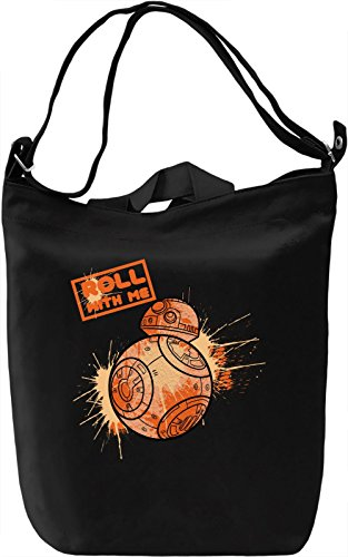 Roll With Me Borsa Giornaliera Canvas Canvas Day Bag  100% Premium Cotton Canvas  DTG Printing 