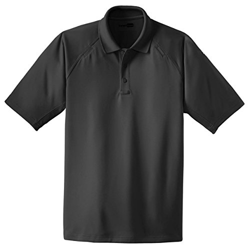 Cornerstone Men's Big And Tall Knit Collar Tactical Polo Shirt_Charcoal_3XLT