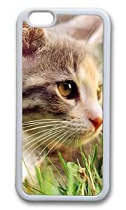 MOKSHOP Adorable Cute cat Soft Case Protective Shell Cell Phone Cover For Apple Iphone 6 Plus (5.5 Inch) - TPU White