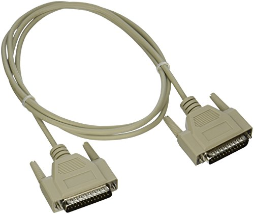 (C2G 03039 DB25 M/M Serial RS232 Null Modem Cable, Beige (6 Feet, 1.82 Meters))