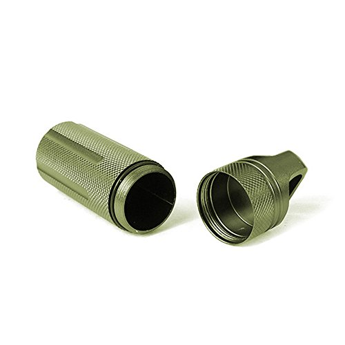 ALTTIMERY-Waterproof-Capsule-Seal-Bottle-Holder-Case-Container-Dry-Box-Outdoor-Survival-Emergency-EDC-Tool-Army-Green